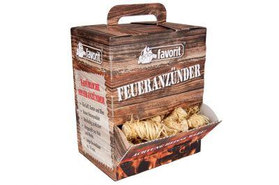 favorit natürliche Feueranzünder Feuerkiste 100Stk.