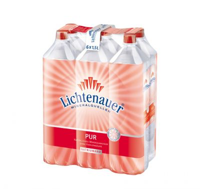 lichtenauer mineralwasser pur ew 6x1 5l eberlein shop. Black Bedroom Furniture Sets. Home Design Ideas