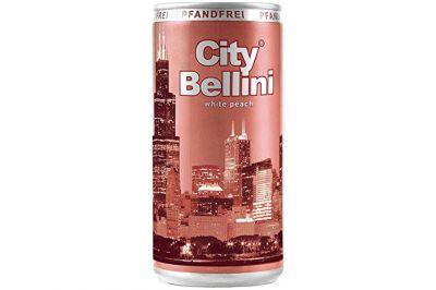 City Bellini Pfirsich weiß frizzante 5,5% lieblich Dose 0,2l