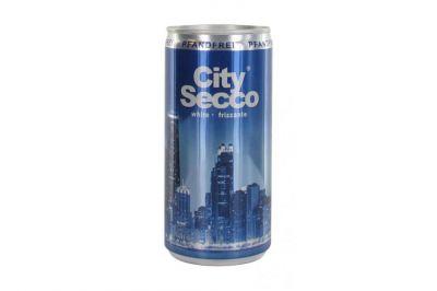 City Secco weiß frizzante 10,5% lieblich Dose 0,2l