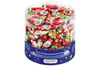 Riegelein Massiv-Weihnachtsmann klein 70x7,5g