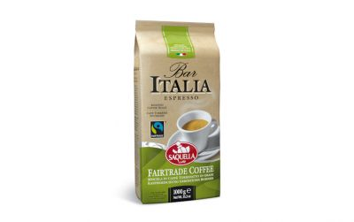 Saquella Bar Italia Espresso Fairtrade Coffee ganze Bohne (1kg)