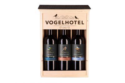 Rietburg 3er Holzkiste Vogelhotel (3x0,75l)