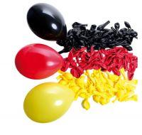 Ballonset 99 Stk. Schwarz/rot/gold
