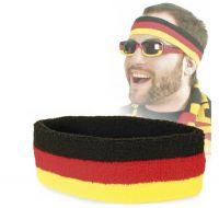 Deutschland Stirnband schwarz/rot/gold