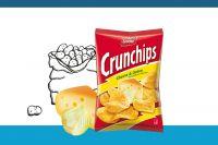 Lorenz Crunchips Cheese & Onion Tüte 175g