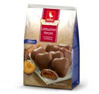 Weiss Lebkuchenherzen Vollmilch mit Aprikosefüllung Tüte (150g)