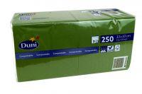 Duni Servietten 33x33 3-lagig dunkelgrün 1x250 Blatt