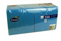 Duni Servietten 33x33 3-lagig pazifik blau 1x250 Blatt