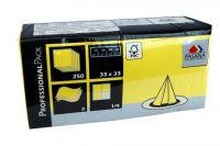 Fasana Servietten 33x33 3-lagig gelb 1x250 Blatt