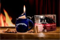 Feuerzangen Tasse blau 0,2