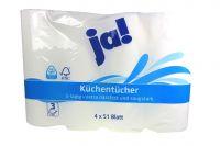Ja Küchenkrepp 3 lagig (4x51 Blatt)